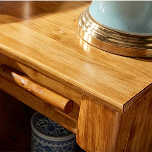 Bedside Table Dressing Table Solid Wood Drawer Storage Bedroom Side Cabinet Color Wood Color Size 454248cm 0 2
