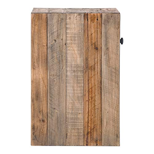 Brown Reclaimed Pine Storage Contemporary Nightstand Rustic Wood Lacquer Matte Stained Shelf Area 0 2