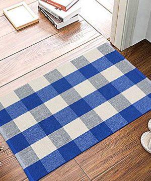 Buffalo Rug Outdoor Indoor Cotton Door Mat Check Plaid Rug For Living Room Kitchen 2x3 0 0 300x360