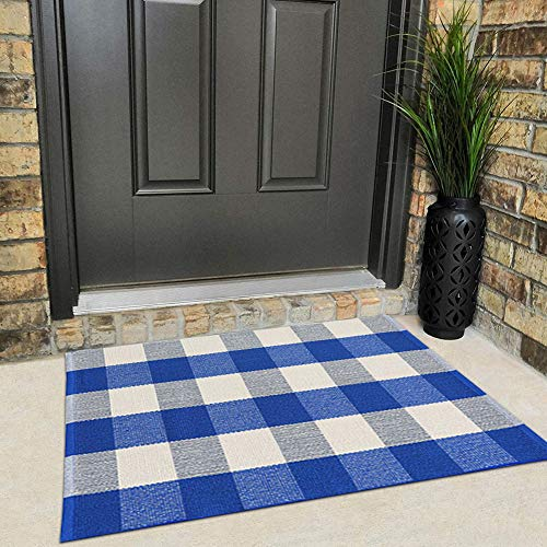 Buffalo Rug Outdoor Indoor Cotton Door Mat Check Plaid Rug For Living Room Kitchen 2x3 0 1