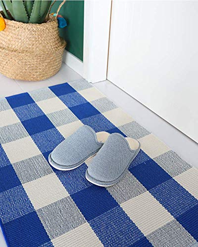 Buffalo Rug Outdoor Indoor Cotton Door Mat Check Plaid Rug For Living Room Kitchen 2x3 0 3