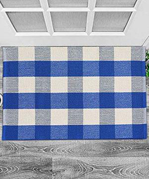 Buffalo Rug Outdoor Indoor Cotton Door Mat Check Plaid Rug For Living Room Kitchen 2x3 0 300x360