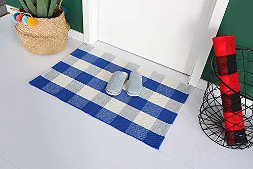 Buffalo Rug Outdoor Indoor Cotton Door Mat Check Plaid Rug For Living Room Kitchen 2x3 0 4