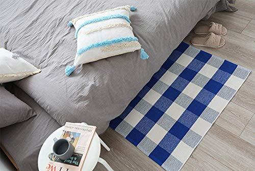Buffalo Rug Outdoor Indoor Cotton Door Mat Check Plaid Rug For Living Room Kitchen 2x3 0 5