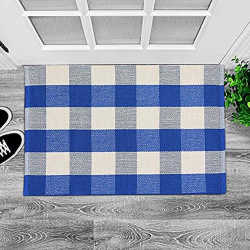 Buffalo Rug Outdoor Indoor Cotton Door Mat Check Plaid Rug For Living Room Kitchen 2x3 0