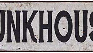 Bunkhouse Vintage Look Rustic Metal Sign Plaque Retro Signs Wall Decor 6 X 18 High Gloss Metal 206180035047 0 300x171