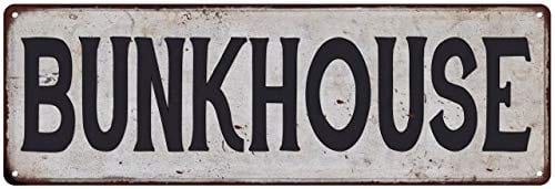 Bunkhouse Vintage Look Rustic Metal Sign Plaque Retro Signs Wall Decor 6 X 18 High Gloss Metal 206180035047 0