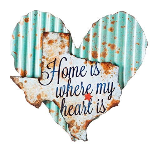 Cape Craftsmen Texas Home Sweet Home Corrugated Metal Wall Sign 0