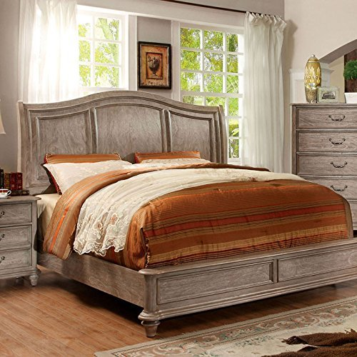 Carefree Home Furnishings Belgrade II Transitional Style Rustic Natural Tone Finish CalKing Size 6 Piece Bedroom Set 0 0