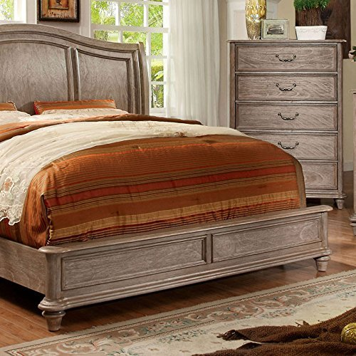 Carefree Home Furnishings Belgrade II Transitional Style Rustic Natural Tone Finish CalKing Size 6 Piece Bedroom Set 0 1