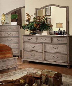 Carefree Home Furnishings Belgrade II Transitional Style Rustic Natural Tone Finish CalKing Size 6 Piece Bedroom Set 0 2 300x360