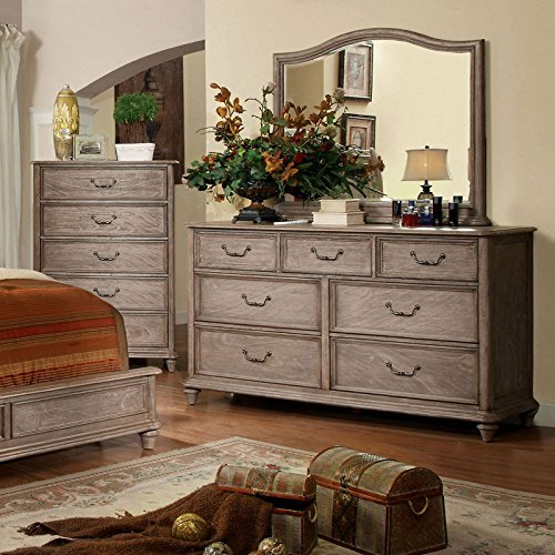Carefree Home Furnishings Belgrade II Transitional Style Rustic Natural Tone Finish CalKing Size 6 Piece Bedroom Set 0 2