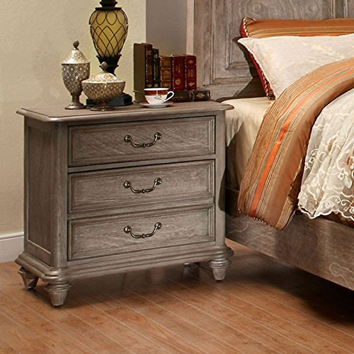 Carefree Home Furnishings Belgrade II Transitional Style Rustic Natural Tone Finish CalKing Size 6 Piece Bedroom Set 0 3