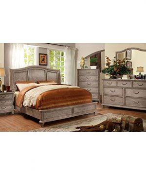 Carefree Home Furnishings Belgrade II Transitional Style Rustic Natural Tone Finish CalKing Size 6 Piece Bedroom Set 0 300x360
