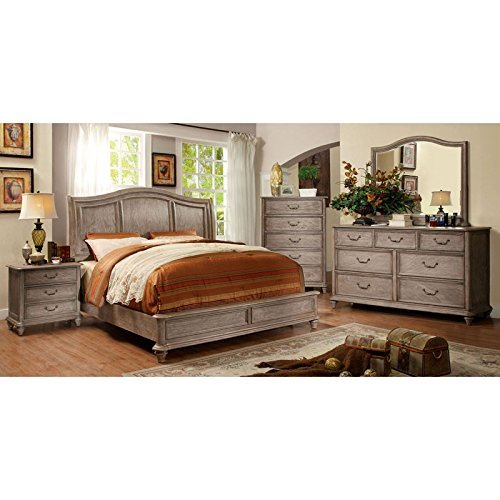 Carefree Home Furnishings Belgrade II Transitional Style Rustic Natural Tone Finish CalKing Size 6 Piece Bedroom Set 0