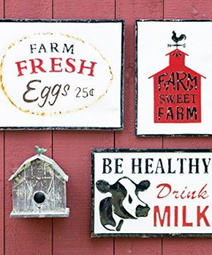 Celebrate The Home Farmhouse Style Decorative Metal Sign Be Healthy Drink Milk 0 0 300x360