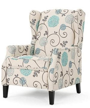 Christopher Knight Home 301080 Westeros Recliner Chair White Blue Floral 0 300x360
