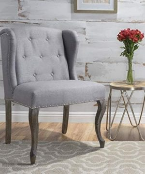 Christopher Knight Home Asheville Button Tufted Fabric Chair Light Grey 0 0 300x360