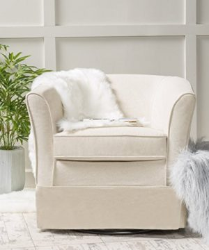 Christopher Knight Home Cecilia Swivel Chair Natural 0 300x360