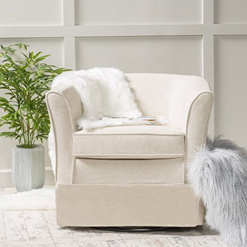 Christopher Knight Home Cecilia Swivel Chair Natural 0