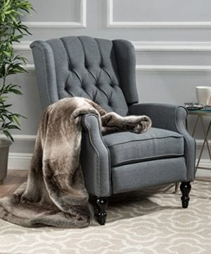 Christopher Knight Home Elizabeth Tufted Accent Chair In Charcoal Gray Single Recliner Armchair Elegant And Comfortable 0 300x360