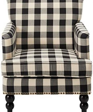 Christopher Knight Home Evete Tufted Fabric Club Chair Black Checkerboard 0 0 300x360