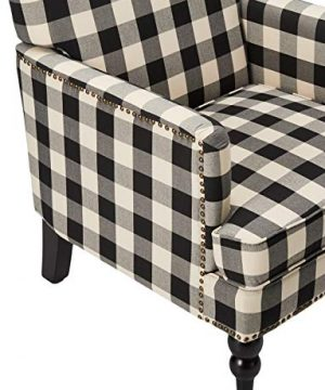 Christopher Knight Home Evete Tufted Fabric Club Chair Black Checkerboard 0 2 300x360