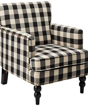 Christopher Knight Home Evete Tufted Fabric Club Chair Black Checkerboard 0 300x360