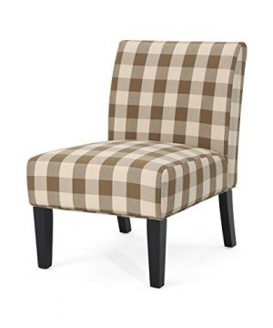 Christopher Knight Home Kendal Traditional Upholstered Farmhouse Accent Chair Brown Checkerboard Purple Tweed 0 300x360