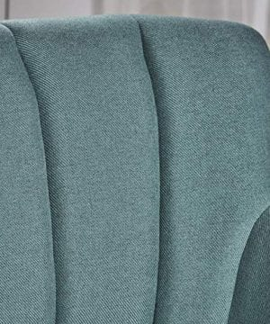 Christopher Knight Home Merel Mid Century Modern Fabric Club Chair Dark TealNatural 0 2 300x360