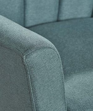 Christopher Knight Home Merel Mid Century Modern Fabric Club Chair Dark TealNatural 0 3 300x360