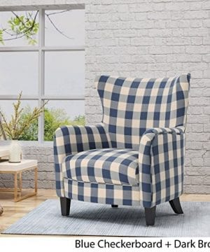 Christopher Knight Home Oliver Farmhouse Armchair Checkerboard Blue Floral 0 1 300x360