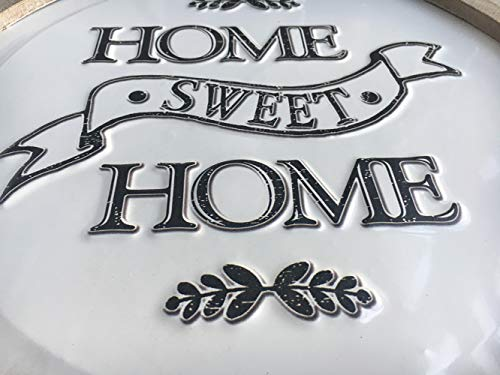 Circular Home Sweet Home Sign Rustic Farmhouse Wood And Metal Round Home Decor Wall Art 14 Inches Farmhouse Goals