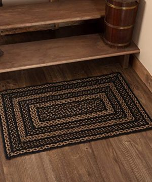 Classic Country Primitive Flooring Farmhouse Jute Black Rug 2 X 3 0 300x360