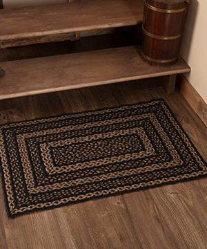 Classic Country Primitive Flooring Farmhouse Jute Black Rug 2 X 3 0 300x360