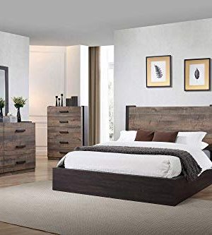 Coaster Home Furnishings Weston 5 Piece California King Bedroom Set Weathered Oak And Rustic Coffee BrownTraditional 0 300x333