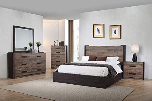 Coaster Home Furnishings Weston 5 Piece California King Bedroom Set Weathered Oak And Rustic Coffee BrownTraditional 0
