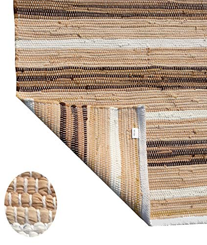 Cotton Multi Chindi Stripe Rugs 24x36 Inch LinenWhite ColorCotton Area RugsIndoor Out Door Rugs 2x3Rugs For Living Room Machine Washable RugsHand Woven Kitchen Entryway Rug 0 0