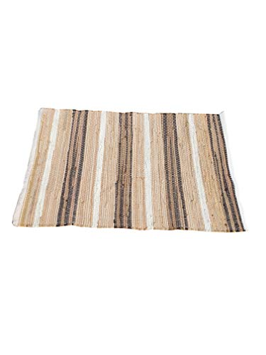 Cotton Multi Chindi Stripe Rugs 24x36 Inch LinenWhite ColorCotton Area RugsIndoor Out Door Rugs 2x3Rugs For Living Room Machine Washable RugsHand Woven Kitchen Entryway Rug 0 1