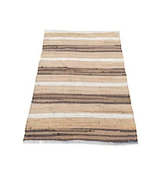 Cotton Multi Chindi Stripe Rugs 24x36 Inch LinenWhite ColorCotton Area RugsIndoor Out Door Rugs 2x3Rugs For Living Room Machine Washable RugsHand Woven Kitchen Entryway Rug 0 300x360