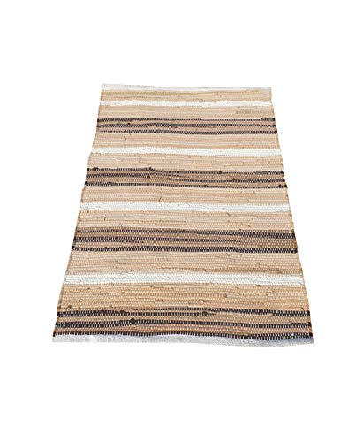 Cotton Multi Chindi Stripe Rugs 24x36 Inch LinenWhite ColorCotton Area RugsIndoor Out Door Rugs 2x3Rugs For Living Room Machine Washable RugsHand Woven Kitchen Entryway Rug 0
