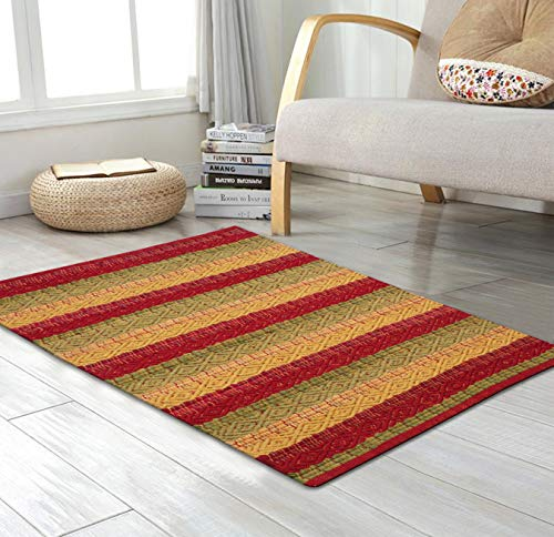 Cotton Rag Rugs 2x3'- Red Combo in