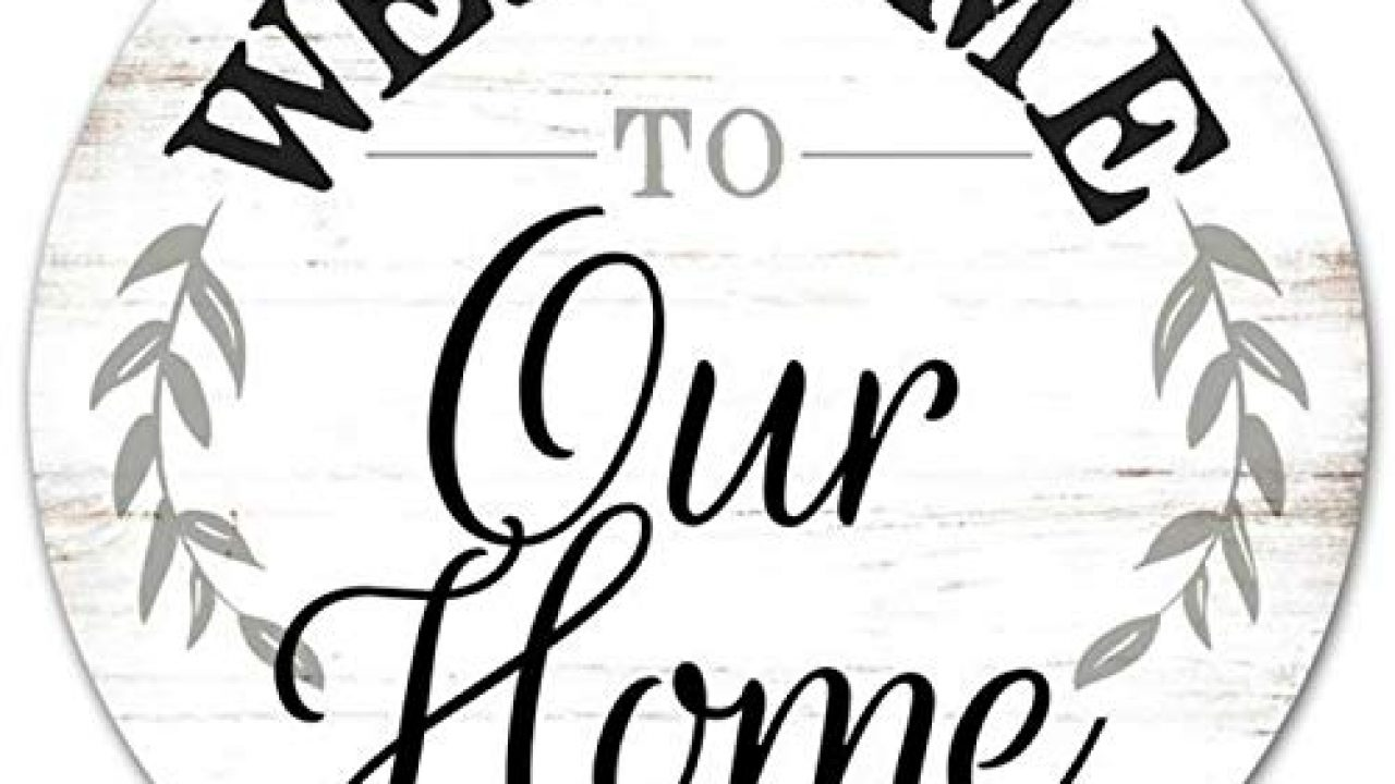 Craig Bachman 12 Round Metal Sign Welcome To Our Home Metal Wreath Accent Sign Md0462 Farmhouse Goals