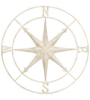 Creative Co Op Decorative Round Metal Compass Wall Dcor 41 Cream 0 300x334