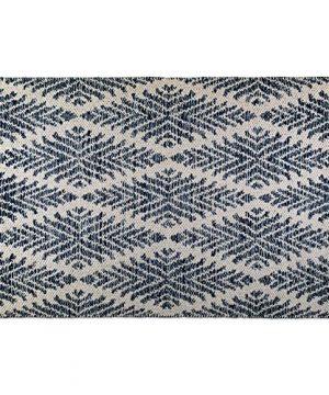 DII CAMZ10422 Indoor Flatweave Cotton Handloomed Yarn Dyed Woven Reversible Area Rug For Bedroom Living Room Kitchen 2x3 Diamond Navy Blue 0 0 300x360