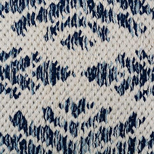 DII CAMZ10422 Indoor Flatweave Cotton Handloomed Yarn Dyed Woven Reversible Area Rug For Bedroom Living Room Kitchen 2x3 Diamond Navy Blue 0 1