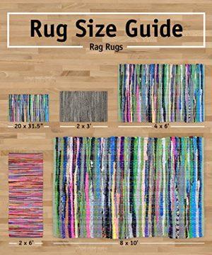 DII CAMZ10422 Indoor Flatweave Cotton Handloomed Yarn Dyed Woven Reversible Area Rug For Bedroom Living Room Kitchen 2x3 Diamond Navy Blue 0 3 300x360