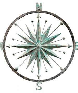 Design Toscano Winds Compass Rose Wall Sculpture Verdigris 0 300x360