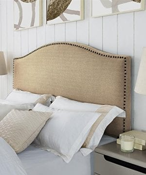 Dorel Living Winsted Linen King Headboard With Nailheads Beige 0 300x360