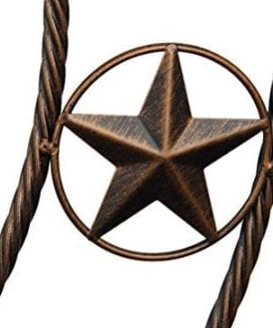 EBEI 315 Large Metal Barn Star Western Home Wall Decor Vintage Circle Dark Brown Texas Lone Star With Letters Welcome 0 1 300x360